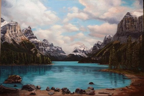 Maligne Lake - Almost there